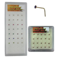 9ct Gold Gem Nose Stud Unit