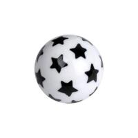 Acrylic Stars Ball - Black on White