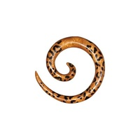 Animal Wood Leopard Spiral