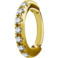Bright Gold Oval Jewelled Hinged Rook Ring