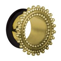 Ornate Cast Brass Single Flared Eyelet