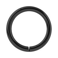 Black Steel Continuous Rings