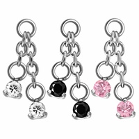 Steel Prong Set Round Double Swarovski