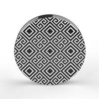 Custom Laser Engraved Black Acrylic Plug - 'Pattern 02'