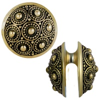 Ornate Brass Ear Weight Hanger : 23 grams