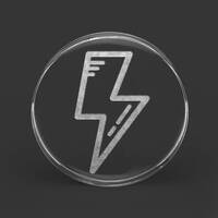 Custom Laser Engraved Clear Acrylic Plug - 'Lightning Bolt'