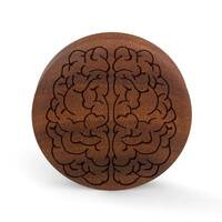 Custom Laser Engraved Saba Wood Plug - 'Brain'