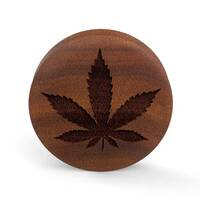 Custom Laser Engraved Saba Wood Plug - 'Mary Jane'