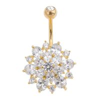 Dahlia Cluster Jewelled Navel : 1.6mm (14ga) x 10mm