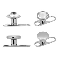 Titanium Highline® 2 Hole Base Dermal Anchor with Disc