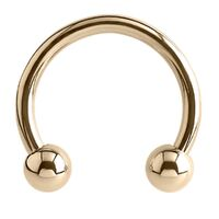14ct Gold Micro Circular Barbell