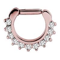 Rose Gold PVD Prong Set Hinged Segment Clicker