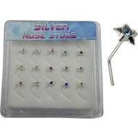 Sterling Silver Star Nose Stud Unit
