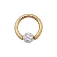 Titanium Zirconline® Multi Jewelled Sealed Ball Closure Ring