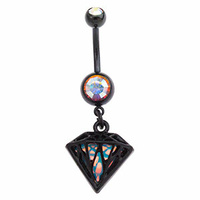 Iridescent Diamond Navel