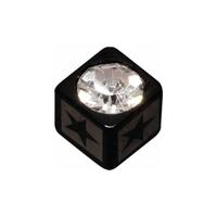 Steel Blackline® Jewelled Lazer Cube Star