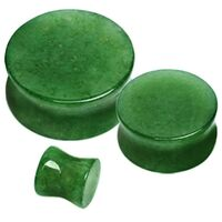 Double Flared Green Stone Plug