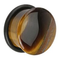 Tiger Eye Single Flared Plug