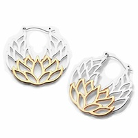 20g Silver and Rose Gold Lotus Web Plug Hoop