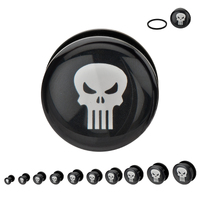 Black Acrylic Punisher Plug