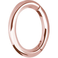 Rose Gold Oval Hinged Rook Ring