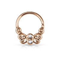 Rose Gold PVD Surgical Steel Septum Clicker