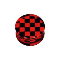 PMMA Silhouette Plug - Red and Black Check