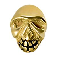 Bright Gold Skull Internally Threaded Attachment