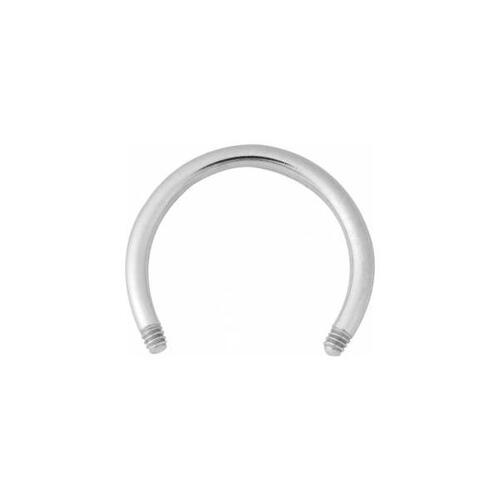 Steel Basicline® Circular Barbell Micro Stem without Balls : 1.0mm (18ga) x 7mm