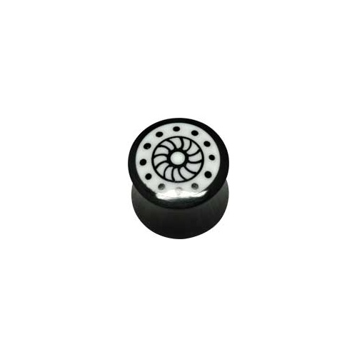 Wheel Bone Inlay Plug : 10mm