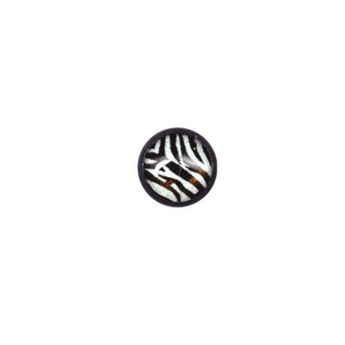 Steel Blackline® Threaded Ball - Zebra : 1.6mm (14ga) x 6mm