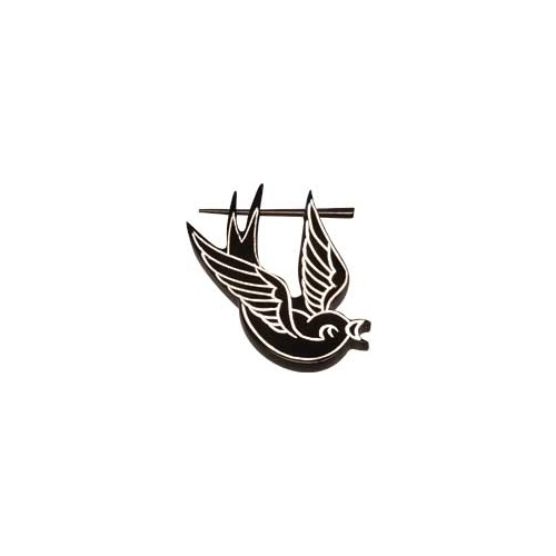 Ornate Ear Pin - Swallow : One size pin 2mm thick, may vary slightly