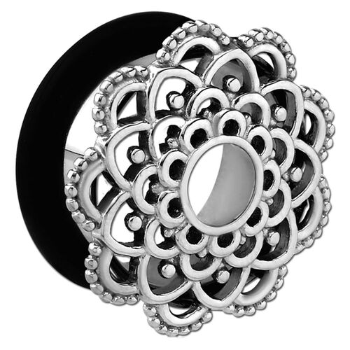 Steel Ornate Flower Single Flared Eyelet : 8mm