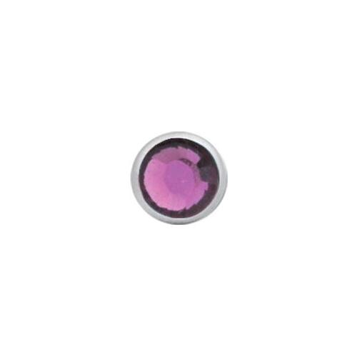 Titanium Highline® Jewelled Disc for Internally Threaded Jewellery : 5mm x Amethyst